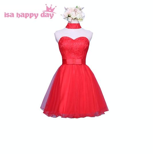 high school simple short red strapless teens birthday prom dress ...