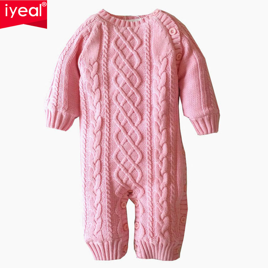IYEAL Newborn Baby Romper Kid Jumpsuit Cotton O-neck Infant Outfit Clothes Long sleeve Boys Girls Overalls of Toddler body suit newborn baby girls rompers 100% cotton long sleeve angel wings leisure body suit clothing toddler jumpsuit infant boys clothes