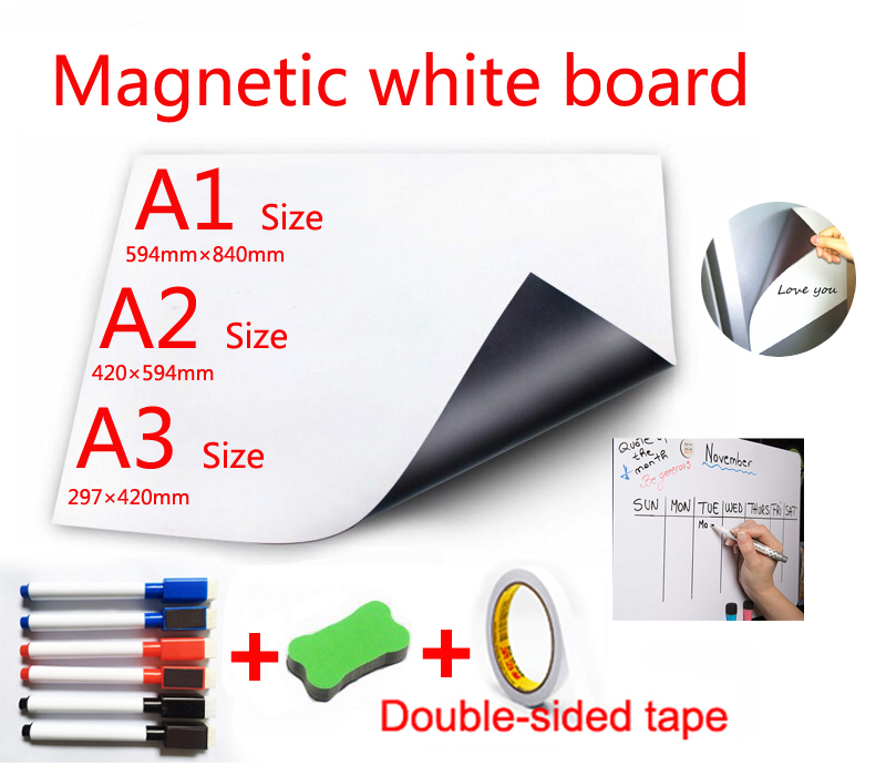 Magnetic White Board Fridge Magnets Direct Adsorption Of Metal Surfaces Dry Wipe WhiteBoard Presentation Boards Marker Pen Erase