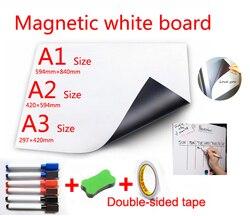 Quadro Branco magnético Ímãs de Geladeira Adsorção Direta de Superfícies de Metal Painéis de Apresentação WhiteBoard Marcador Pen Erase Seco Limpe