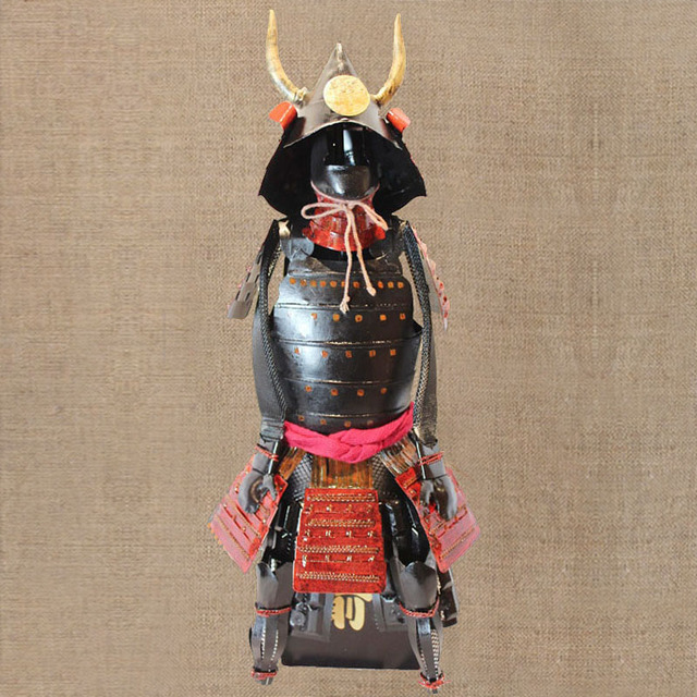 Retro decoration ornaments iron Japanese small armor office shop furnishings display props gifts