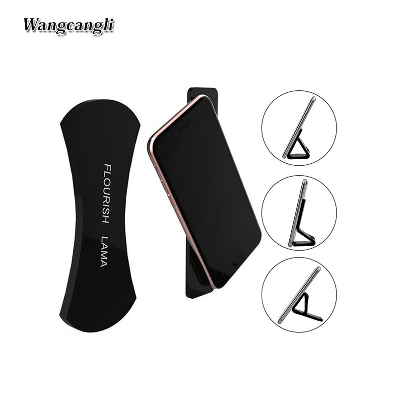 wangcangli Sticky black technology mobile sailor Velcro almohadilla de goma fuerte sticky hand sticker universal in Phone Holders Stands from Cellphones Telecommunications