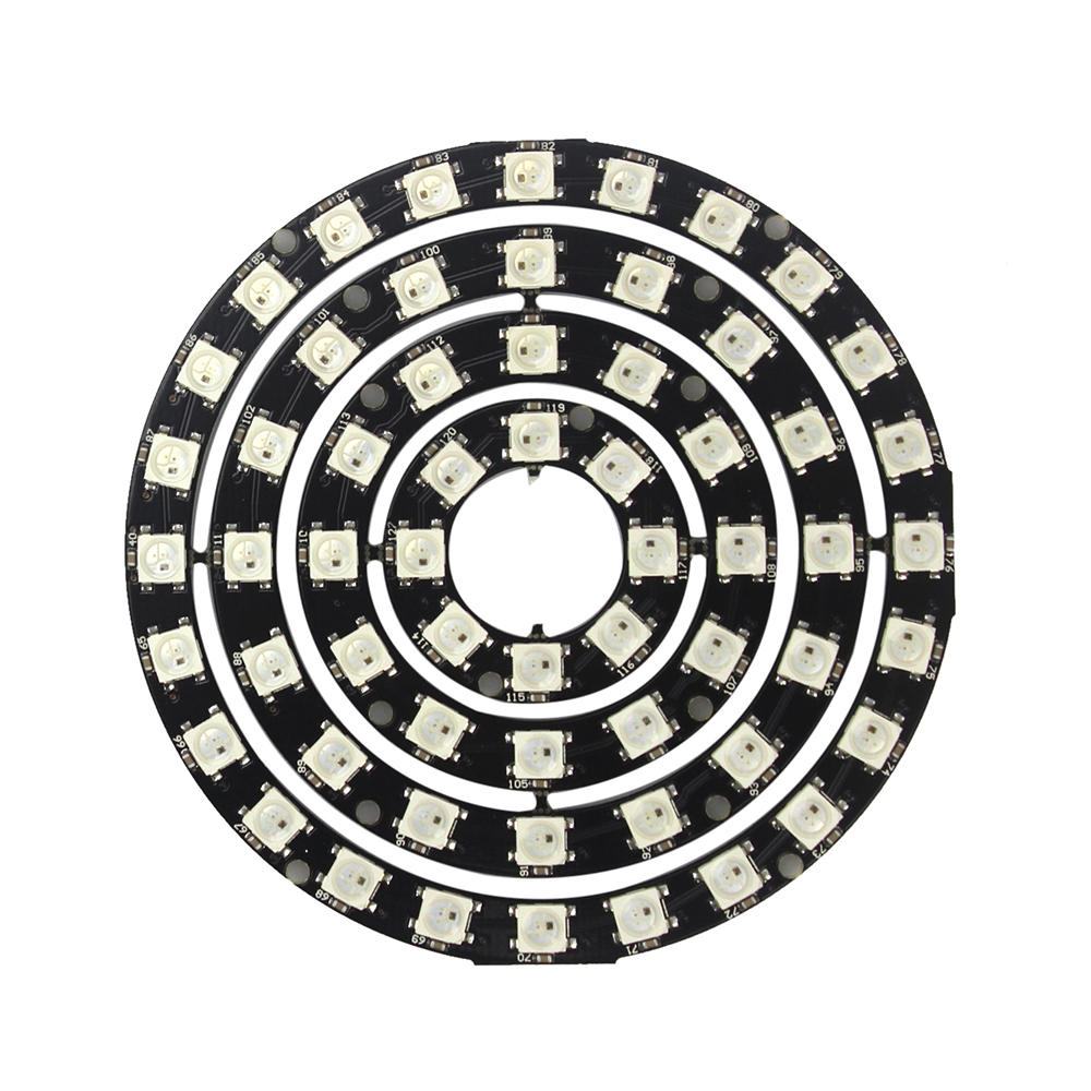 WS2812 60 Bits RGB LED Ring 8/12/16/24 Bit WS2812B 5050 RGB LED with Integrated Driver Drop for arduino Diy KitWS2812 60 Bits RGB LED Ring 8/12/16/24 Bit WS2812B 5050 RGB LED with Integrated Driver Drop for arduino Diy Kit