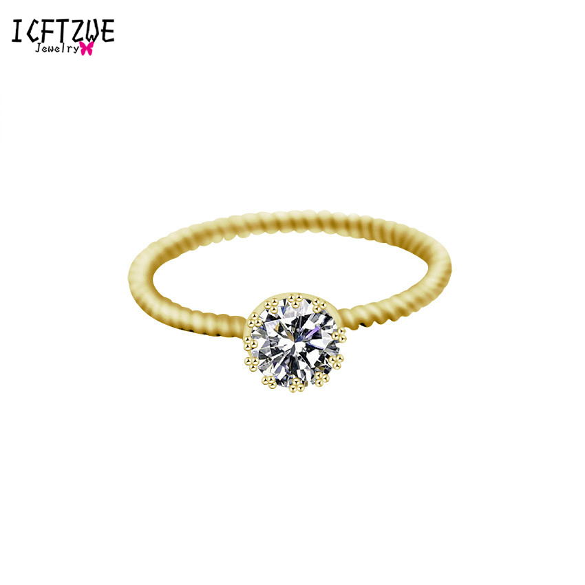Gold Silver Toe Ring Bague Femme Anel Simple Anarchy Solitary Round CZ Wedding Engagement Rings For Women Men Body Jewelry BFF