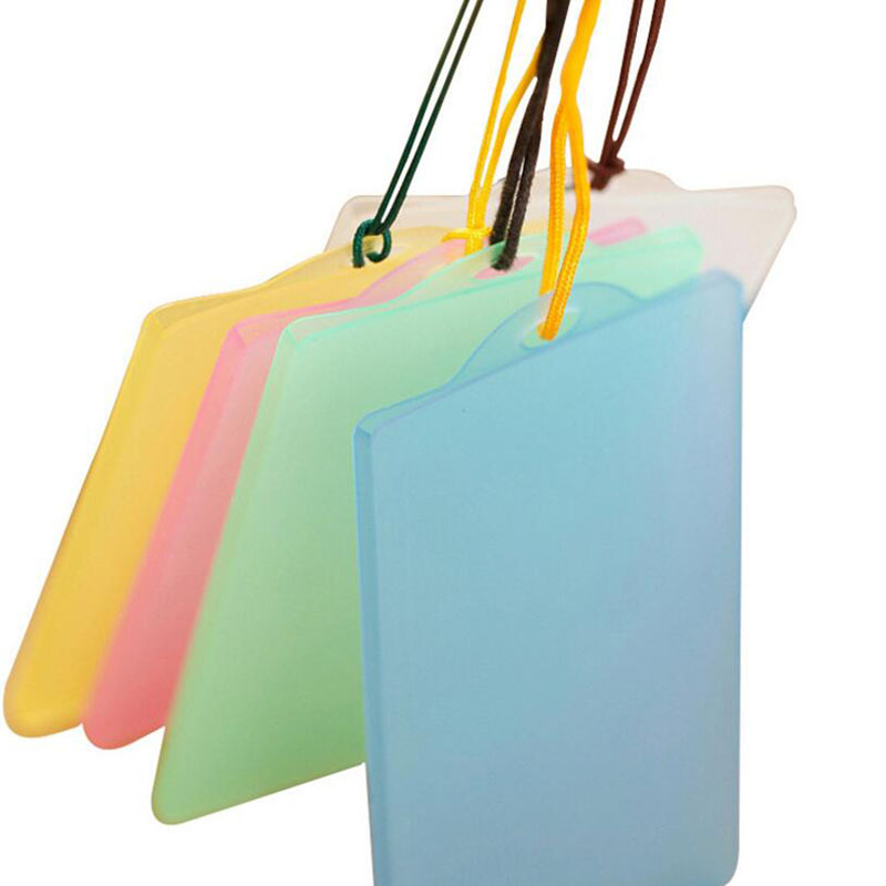 Fashion Waterproof PVC Solid Color Transparent IC Card Holder Student Holder Transparent Passport ID Card Set (Without Rope)