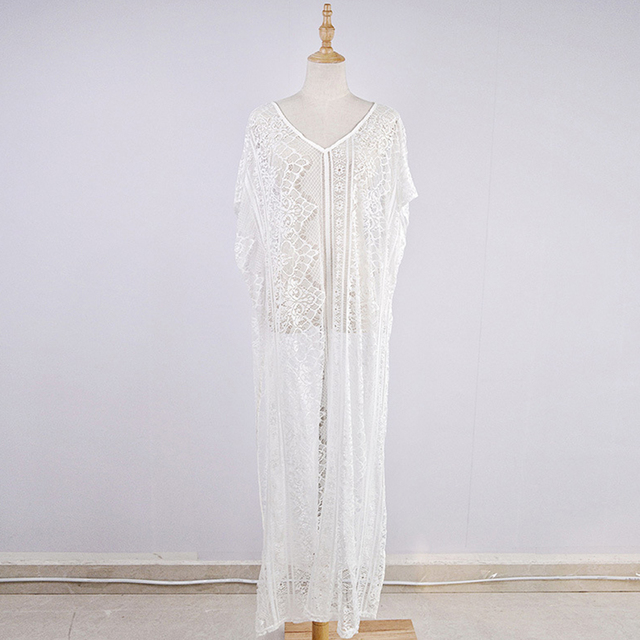 Lace Beach Cover Up Long Dress