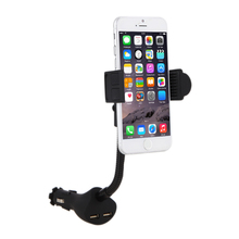 Dual USB Car Smartphone Holder 115.5mm - 173.6mm leghth with