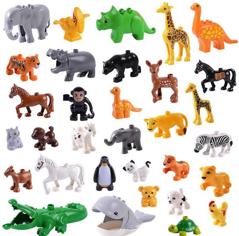 Duplos animals Bricks zoo horse penguin farm ocean Building blocks compatible