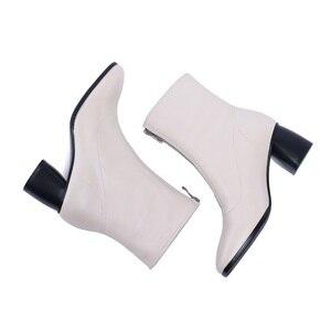 Image 5 - MORAZORA حجم كبير 34 42 جديد ماركة الموضة كامل بوط من الجلد الطبيعي حذاء نسائي بكعب عالٍ السيدات حذاء من الجلد للنساء أحذية الشتاء
