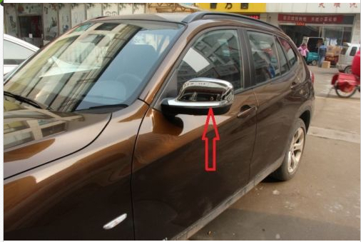 Chrome body side mirror cover caps trim for X3 F25 2011 2012 2013 body shield body side cover black points