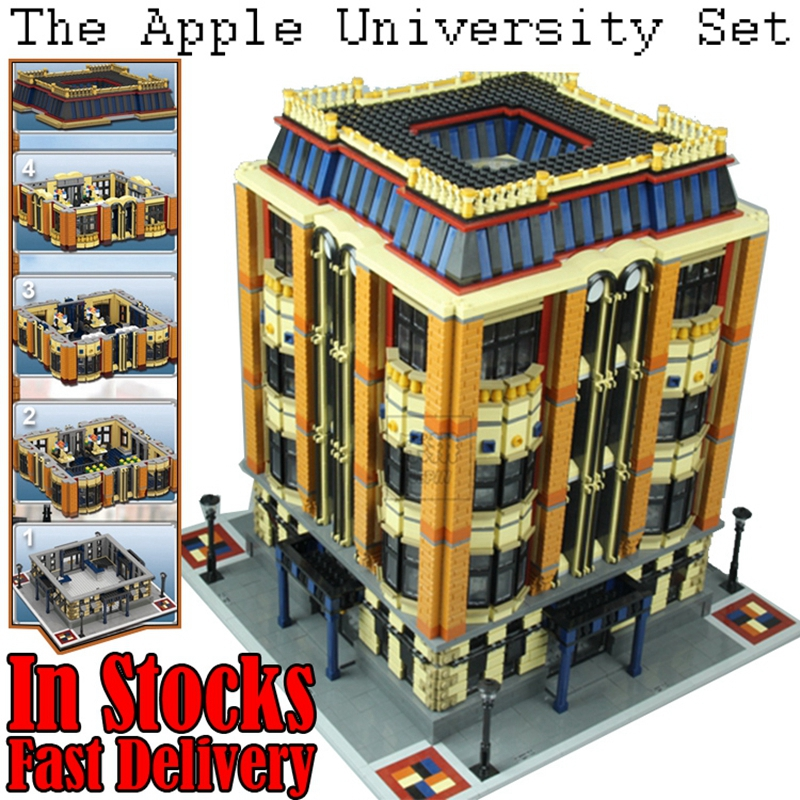 Lepin 15016 7968pcs MOC Creators Series The Apple University Building Blocks Bricks Toys for children Christmas gifts brinquedos