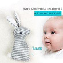 Детские погремушки игрушки животные милый кролик колокольчики плюшевые детские игрушки с ББ звук игрушка подарок Рождество плюшевые куклы
