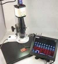 Big sale 2MP Industry Microscope Camera VGA USB AV Video Output+180X C-Mount Lens+Big Size Stand Holder+56 LED Ring Light+8″ LCD Monitor