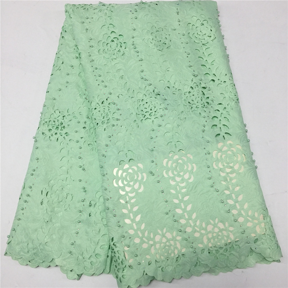 Free shipping(5yards/pc) high quality white African laser cut lace fabric with 3D flowers and beads for party dress GF346-2Free shipping(5yards/pc) high quality white African laser cut lace fabric with 3D flowers and beads for party dress GF346-2