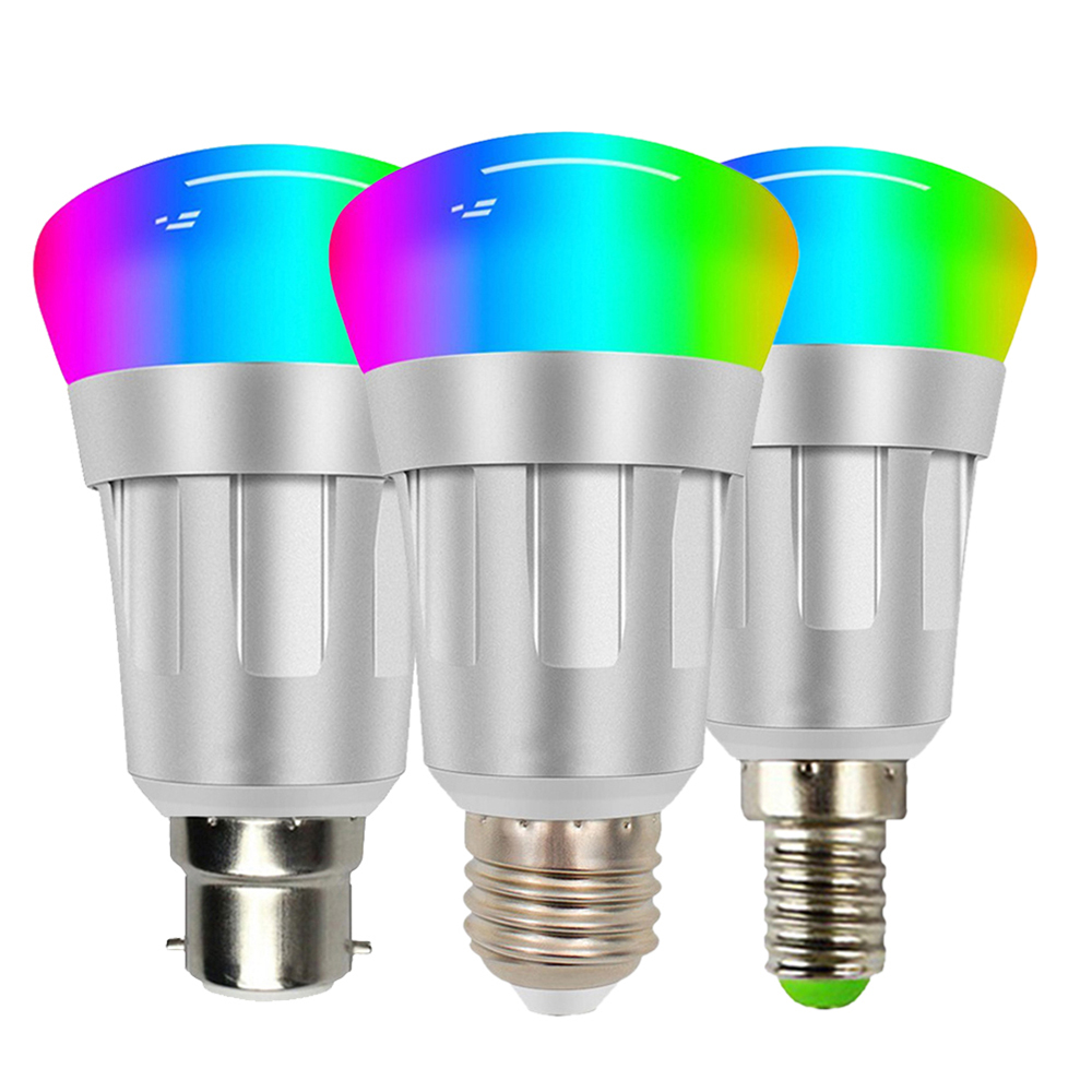 E27 E26 E14 B22 Smart WiFi Bulb Dimmable light Voice APP Remote Control Multi Color Led Bulb Work With Alexa Google Home Nest in Home Automation Modules from Consumer Electronics