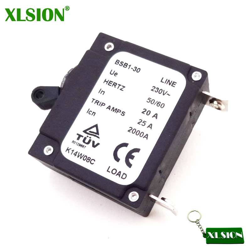 XLSION 230V 20A Chinese Generator Circuit Breaker 25A Trip Amps 2000A BSB1-30 Hertz50/60