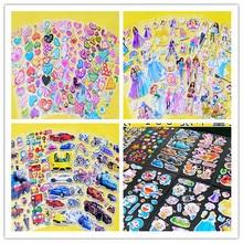 50pcs kid's Cartoon Animals film Pattern Teacher Reward Stickers Sheets Scrapbook for Kid children Free shipping