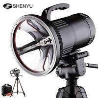 SHENYU Super Bright HID Portable Searchlight Heavy Duty Long Range Xenon Spotlight Polymer Lithium Battery with Tripod