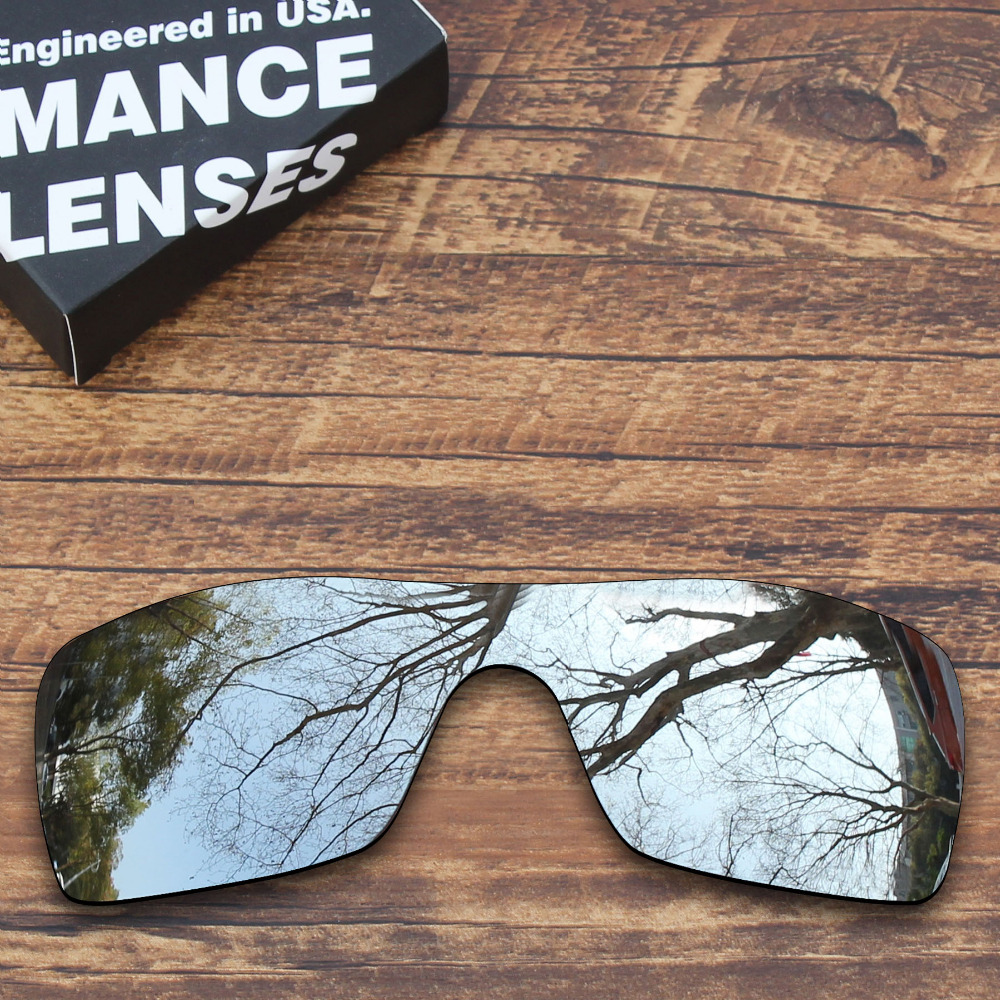 ToughAsNails Polarized Replacement Lenses For Oakley Batwolf Sunglasses Metallic Silver (Lens Only)