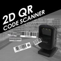 USB Wired Desktop Laser Barcode 2D QR Code Scanner Reader Platform Autoscanner for Supermarket