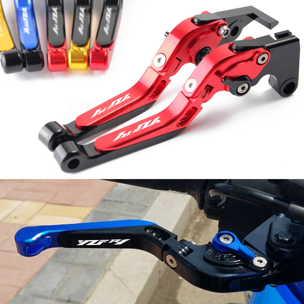 MDMOTO 6COLOR YZFR1 accessories motorcycle brake clutch lever for yamaha YZF R1 R1M R1S 1999-2017 CNC motorbike brake levers set 6 colors cnc adjustable motorcycle brake clutch levers for yamaha yzf r6 yzfr6 1999 2004 2005 2016 2017 logo yzf r6 lever