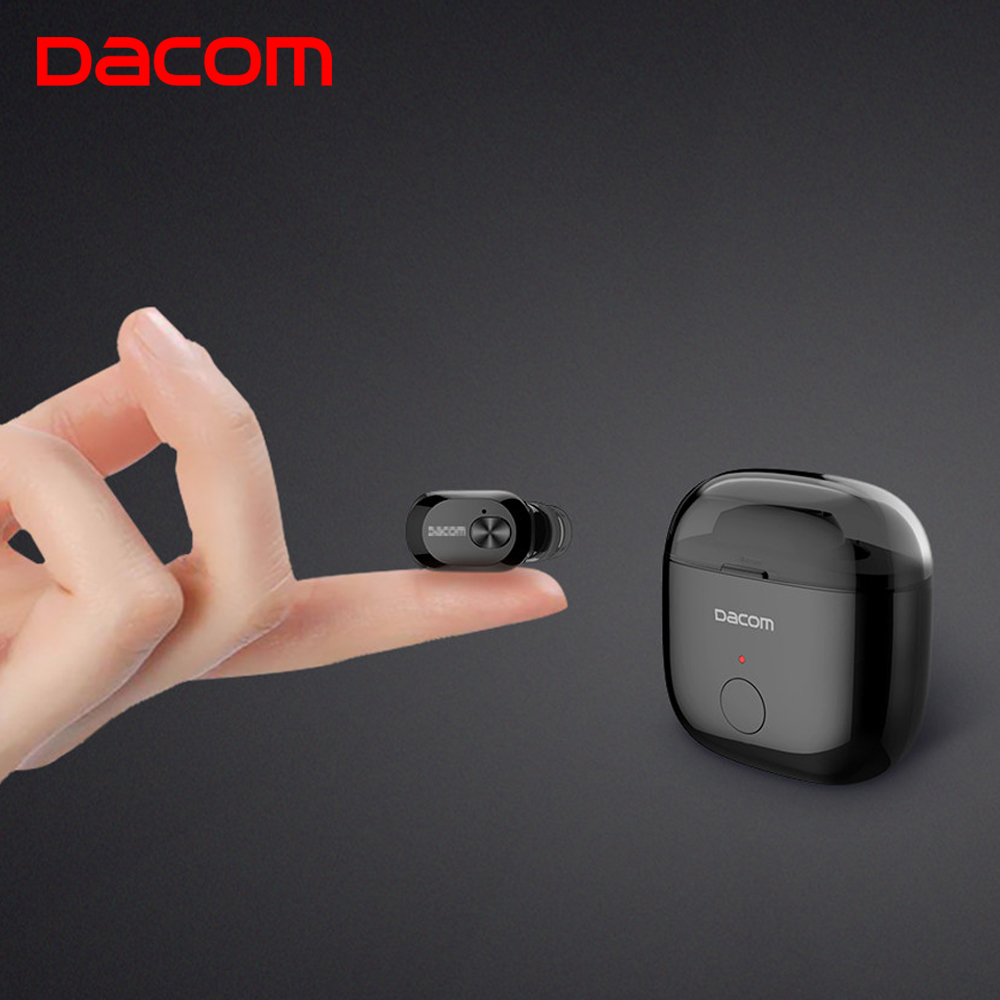 DACOM K6P Mini Earphone In-ear Wireless Bluetooth Earbuds Mono Earpiece Two Layer Eartips Ear Phones for iPhone Samsung Xiaomi dacom tws 7s true wireless bluetooth headset mini bluetooth 4 2 wireless earpiece earbuds in ear earphone for iphone 7 android