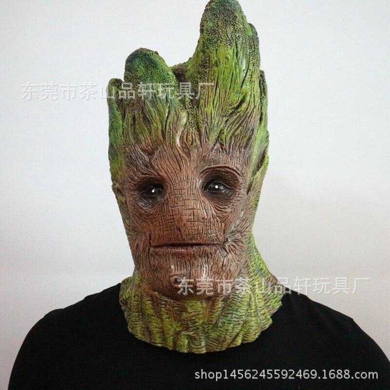 Halloween magique Dryad arbre en caoutchouc masques horreur Treefolk Latex masque visage complet mascarade fête Costume Cosplay accessoires taille adulte