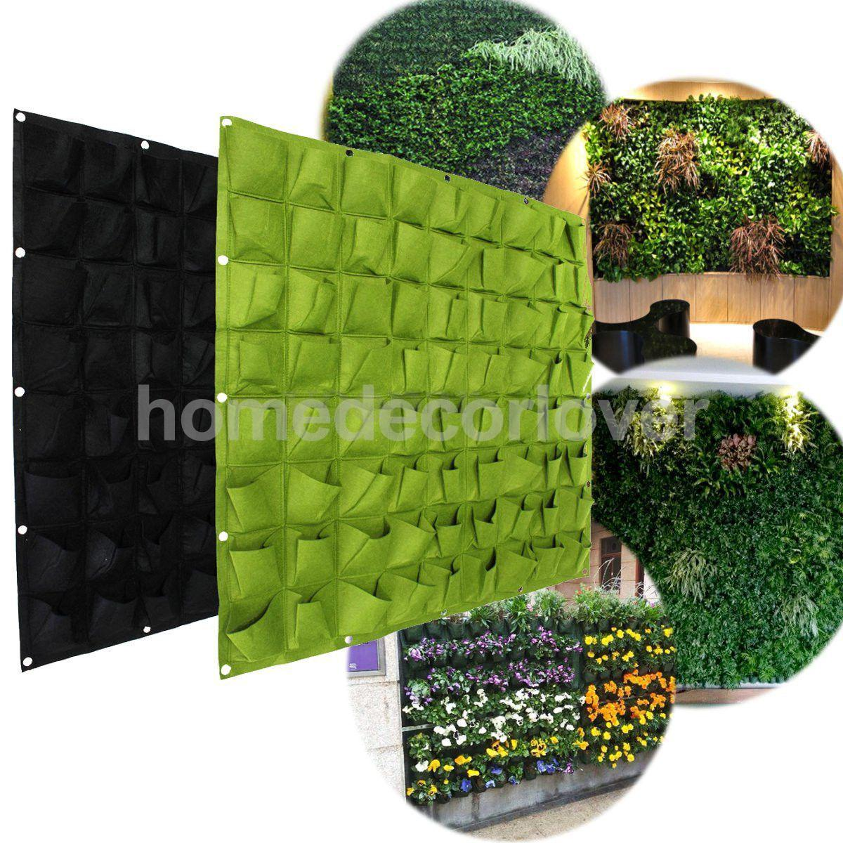72 Pockets Hanging Garden Wall Flower Planter Bag Indoor/Outdoor Herb  Pot(China (