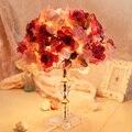 Спальня лампа прикроватная лампа творческий моды ткани розы новый свадебный подарок номер длинный световой романтический красный
