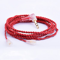 100% Newest FENGRU 1.2m Gold-plated Earphone Cables Headphone Wire HIFI Headset Line for Sennheise pin series (IE8/IE80 etc.)