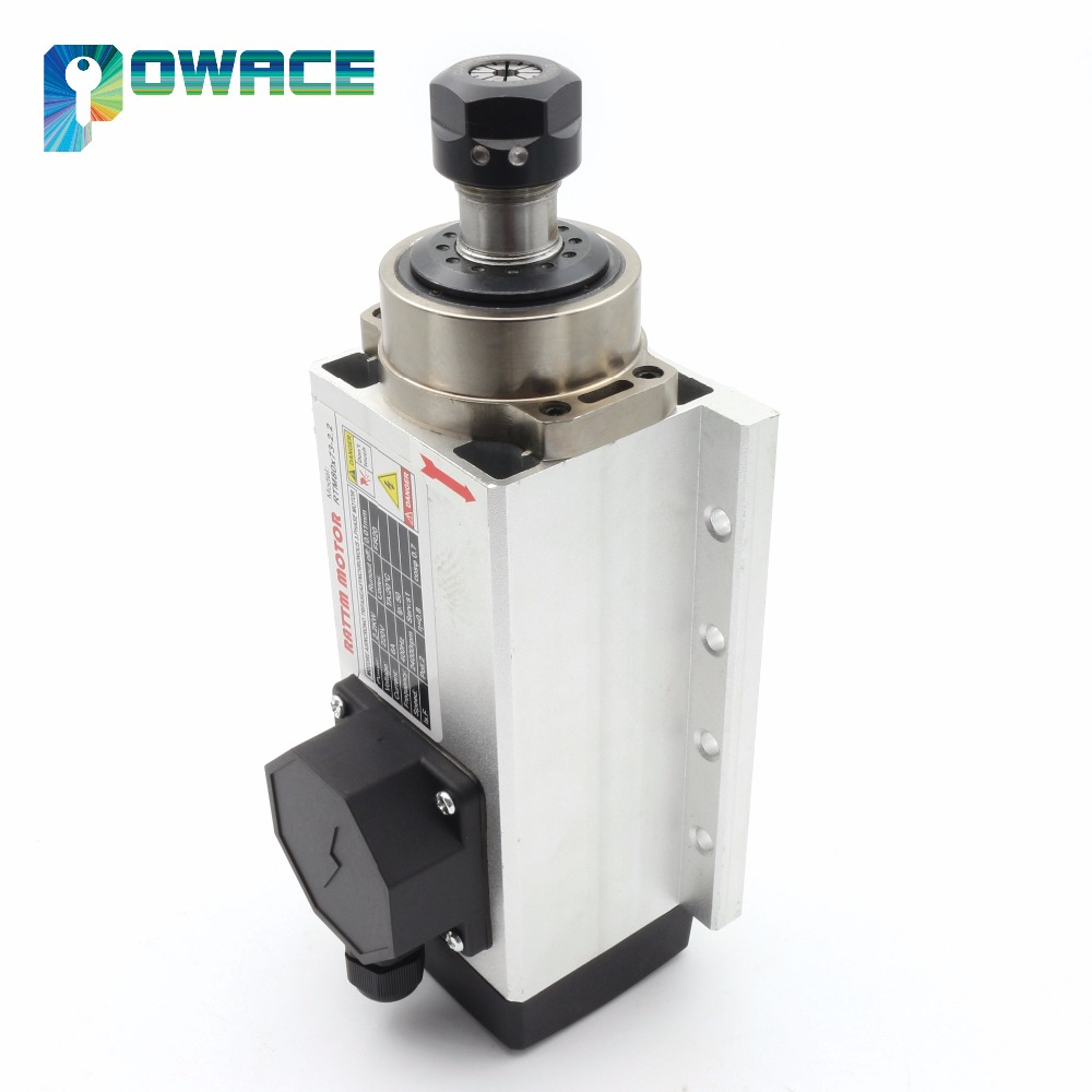 [EU Stock&Free VAT/TAX] 2.2KW Quality Square Air Cooled Spindle Motor 220V 24000rpm ER20 Runout-off 0.01mm Ceramic bearing[EU Stock&Free VAT/TAX] 2.2KW Quality Square Air Cooled Spindle Motor 220V 24000rpm ER20 Runout-off 0.01mm Ceramic bearing