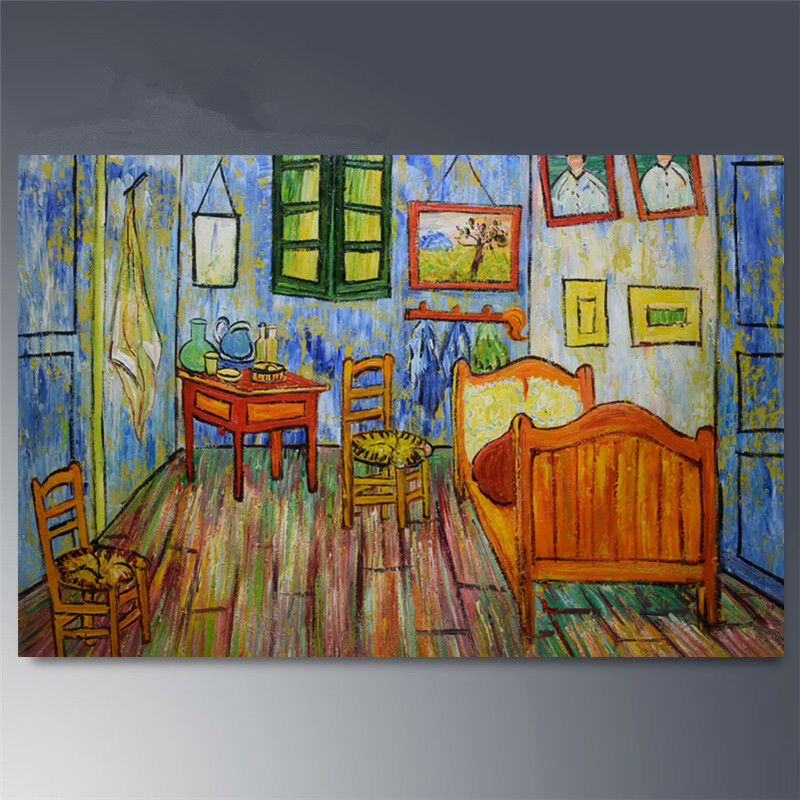 Hand painted Canvas oil paintings Van Gogh Room painting Abstract Modern  home decor wall art picture. Popular Paintings Van Gogh Buy Cheap Paintings Van Gogh lots from