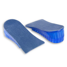1Pair Popular Men Women Orthopedic Height Increase Insoles Massaging Invisible Half Silicone Foot Pad Shoe Lift Feet Care(China)