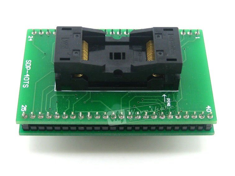 ФОТО module TSOP40 TO DIP40 TSSOP40 Wells IC Test Socket Programming Adapter 0.5mm Pitch
