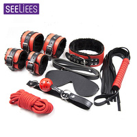 Sexy Bdsm bondage Hand Cuffs Bdsm Fetish Mask Sex Toys for Woman Adult Games Handcuffs for Sex Valentine's Day Hot 7Pcs/set