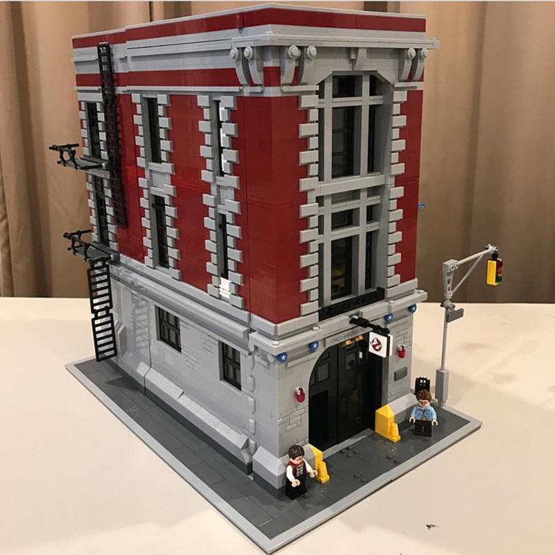 83001 4705PCS Ghostbusters Firehouse Headquarters Compatible 16001 75827 Model Building Kits Blocks Bricks Toys For Children