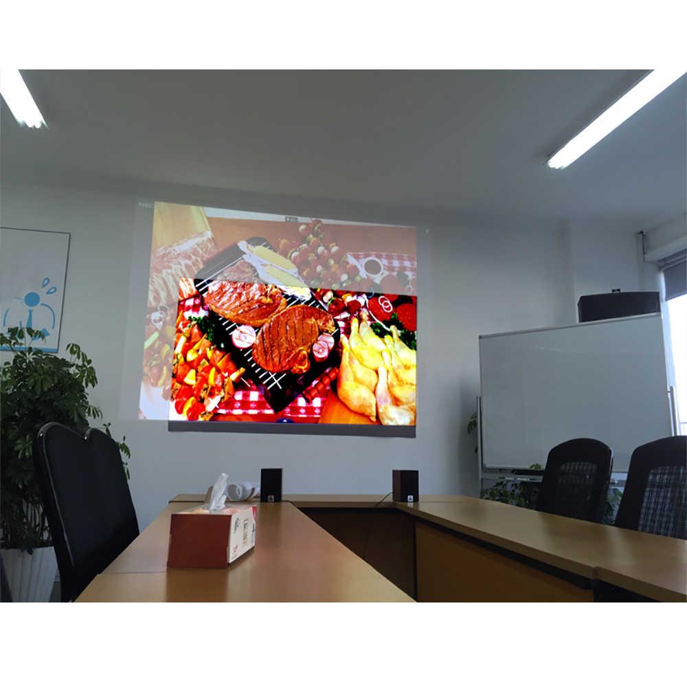 BYINTEK 72 дюйма 84 дюйма 100 дюйма 120 дюйма 130 дюйма отражающая ткань проекционный экран для проектора повышает яркость