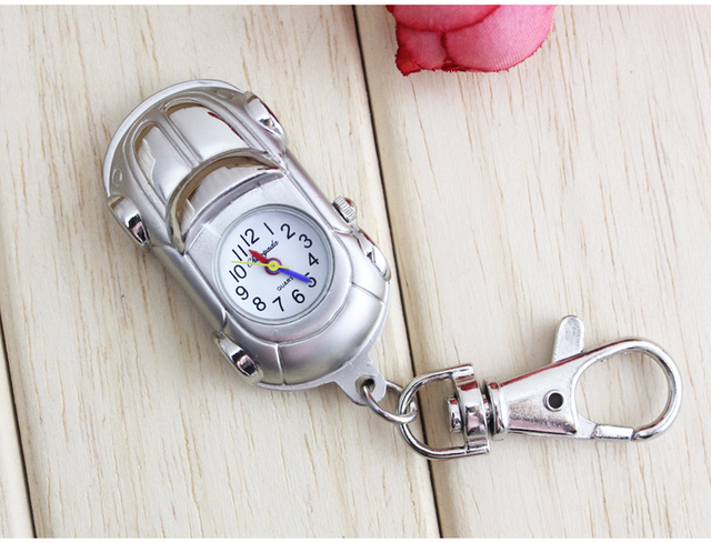 Cartoon Robot boy keychain pocket watch primary secondary students watch no wate