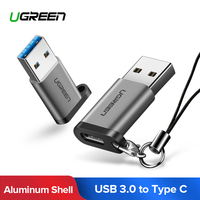 Ugreen USB C Adapter USB 3.0 Male naar USB 3.1 Type C Vrouwelijke Type-C Adapter voor PC Laptop samsung Huawei P20 Oortelefoon USB Adapter