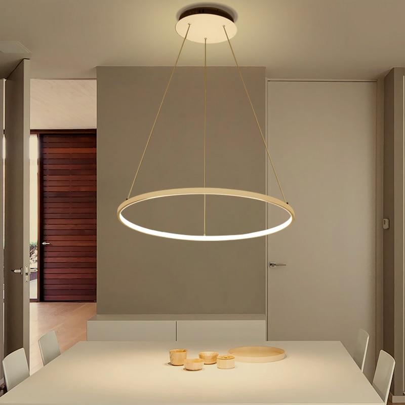 Gut AC85 265V Kreis Anhänger Kronleuchter Beleuchtung Für Esszimmer Küche  Zimmer Ringe Aluminium Hängen Kronleuchter Lustre De Plafond Moderne