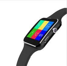 Smartch 2017 Nuevo Reloj Inteligente Bluetooth X6 Smartwatch reloj deportivo para Apple iPhone Android Teléfono Con Cámara FM Apoyo SIM tarjeta