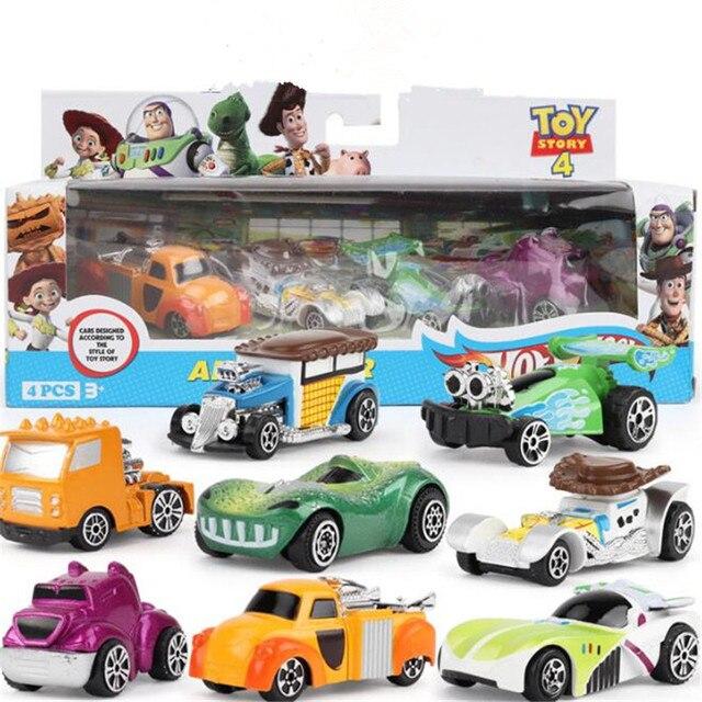8 шт./компл. История Игрушек 4 металлический автомобиль Buzz Lightyear Woody Фигурки игрушки детские игрушки подарок на день рождения Коллекционная кукла