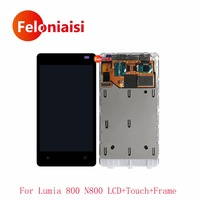 High Quality 3 7 For Nokia Lumia 800 N800 Full Lcd Display With Touch Screen Digitizer