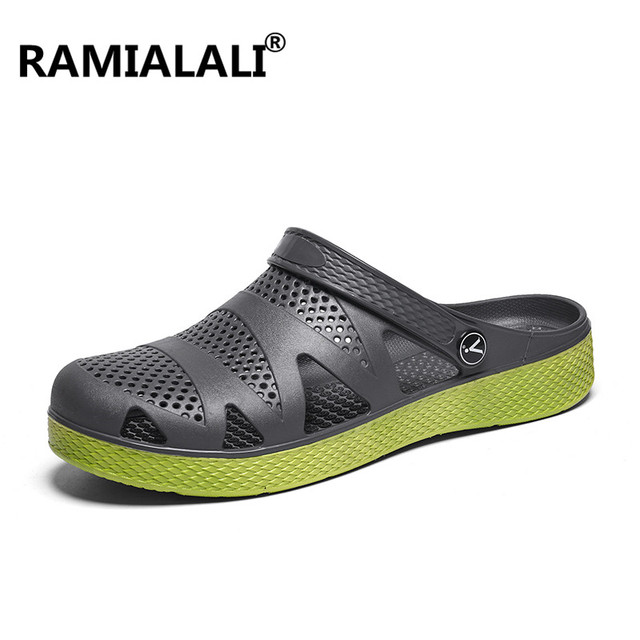 23f77cab8e1e0c Ramialali Summer Outdoor Beach Sandals Shoes Rubber Men Sandals Men Slip on  Garden Clogs Casual Water Slippers Men Shoes