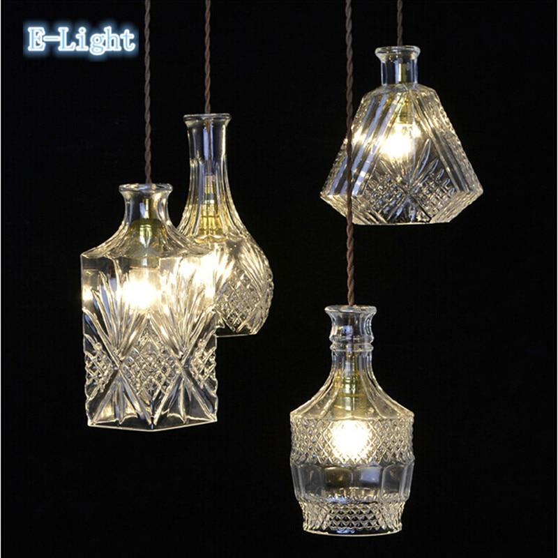 Modern Minimalist Gorgeous Retro Bottle Pendant Lights