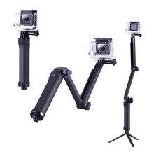 Для 3Way Многофункциональный раскладное рычажный штатив крепление для GoPro Hero 5 4 SJ4000 Sjcam монопод для камеры xiaoyi Go Pro Аксессуары