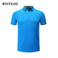 WINTRESS Natural Color Women Fitness Polo Shirt For Summer Short Sleeve Turn Down Collar Casual Top Clothes Custom Logo