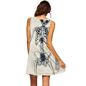 3D Skeleton A-Line Print Tunic Dress 1