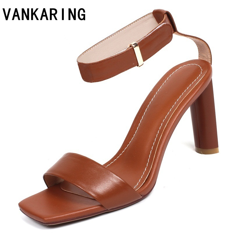 VANKARING fashion cow leather summer shoes 2019 woman super high heels sexy open toe women wedding dress party platform sandalsVANKARING fashion cow leather summer shoes 2019 woman super high heels sexy open toe women wedding dress party platform sandals