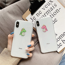 lovely Cartoon Crocodile clear TPU phone Cases For iphone XS Max X XR for 6 6s 7 8 plus soft back cover